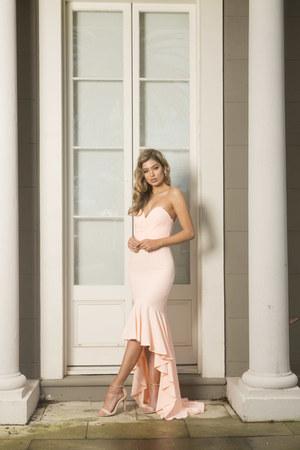 peach White Runway dress