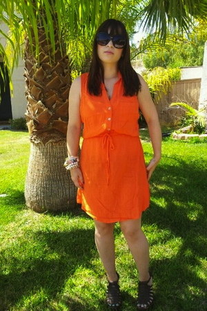 button down Charlotte Russe dress - oversized Charlotte Russe sunglasses