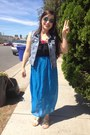 Maxi-dress-bear-dance-dress-70s-inspired-ebay-sunglasses-gold-shiekh-sandals