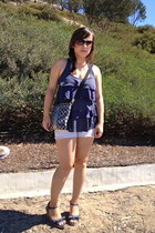 denim Tommy Hilfiger wedges - coach bag - everyday unknown shorts