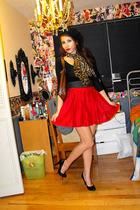 skirt - American Apparel dress - belt - H&M hat