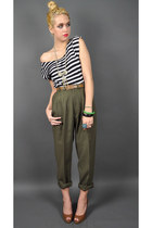 olive green Wicked Plum Vintage pants