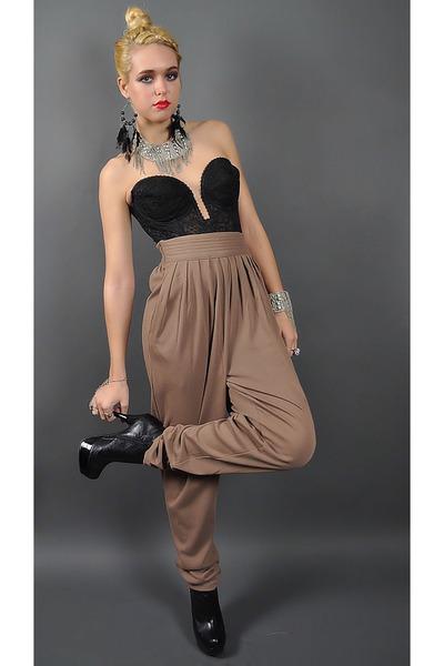 black leather Dollhouse boots - silver fringed cuff Junkmans Daughter bracelet -