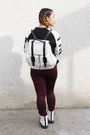White-doc-dupes-forever-21-boots-black-graphic-sweater-forever-21-sweater