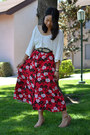 Urban-outfitters-shoes-ross-belt-thrifted-skirt-forever-21-top