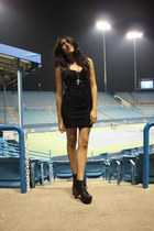 H&M dress - Jeffrey Campbell boots - f21 necklace