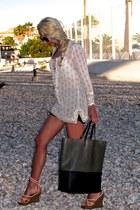camel lanvin wedges - ivory Isabel Marant dress - gray Celine bag