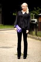 black J Brand jeans - deep purple PROENZA SCHOULER bag