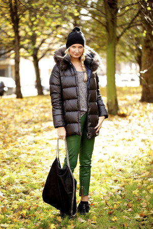 dark green leather By Malene Birger pants - black Underground shoes