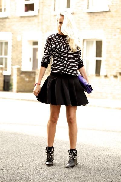 black neoprene Alexander Wang skirt - black Isabel Marant boots