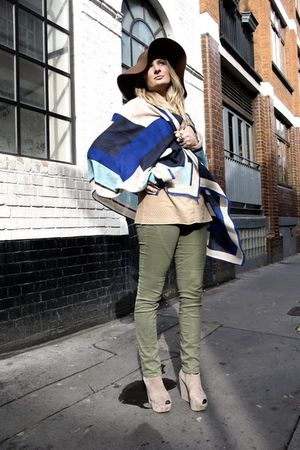 green GINA TRICOT pants - blue Emilio Pucci scarf - yellow Topshop shoes
