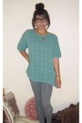 Aquamarine-thrifted-sweater-heather-gray-target-leggings