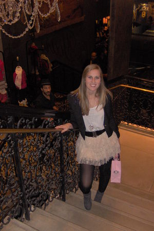 pink Forever 21 skirt - white Express top - black Forever 21 blazer - black Fore
