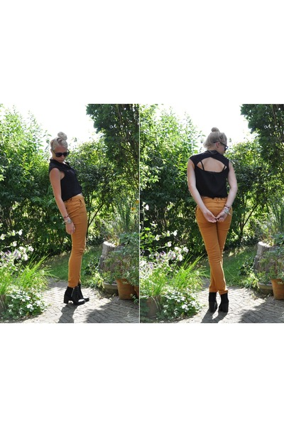 H&M blouse - H&M shoes - Pull and Bear pants
