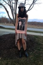 Forever21 top - studded Mia boots - taupe high low Forever21 dress