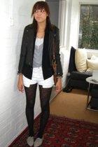 asos tights - Primark vest - French Connection vest - Catherine Hamnet shirt - L
