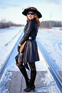Black-leather-danier-coat-black-lace-up-pretty-polly-tights