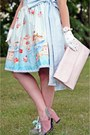 Light-blue-roobys-skirts-skirt-white-teacup-hat-puppycatmeow-on-etsy-hat