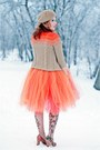 Orange-tulle-etsy-skirt-nude-floral-print-anne-klein-tights