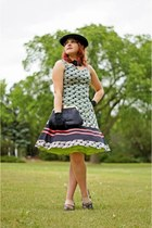lime green crinoline vintage skirt - black Nine West dress