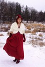 Maroon-something-specail-hat-ivory-melanie-lyne-jacket-maroon-icings-gloves