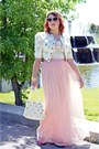 Light-pink-handmade-hat-ivory-jessica-simpson-jacket-ivory-vintage-bag