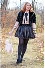 Black-faux-fur-laura-coat-black-sparkle-pretty-polly-tights