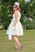 light blue Roobys Skirts skirt - white teacup hat Puppycatmeow on Etsy hat