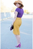 pencil skirt banana republic skirt - wool feather Farbella hat