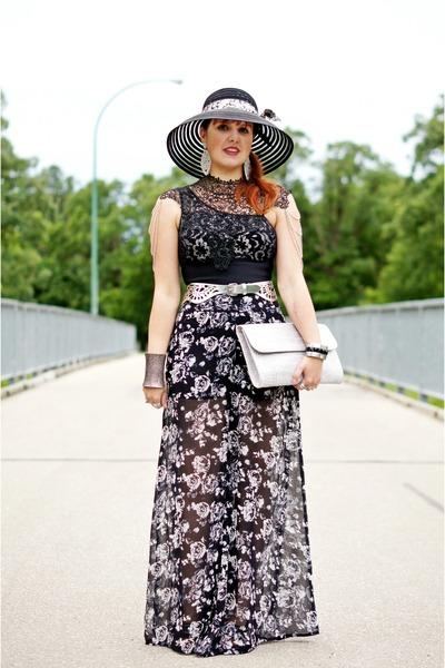 black lace Vedette Shapewear bodysuit - black Nygard hat