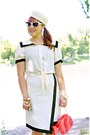 Ivory-sailor-forever-21-blouse-ivory-sailor-vintage-hat-salmon-fish-aldo-bag
