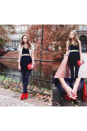 dress - jacket - bag - Stradivarius ring - heels