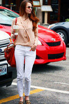 How Not To Wear White Denim: In 7 For All Mankind Roxanne