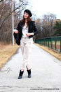 Black-mike-chris-jacket-beige-alexander-wang-for-gap-pants-white-marc-by-m