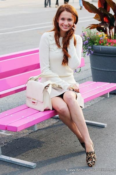 Steve Madden flats - Juicy Couture sweater - Zac Posen bag - Club Monaco skirt