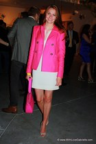 Juicy Couture jacket - talula babaton dress - kate spade bag - Prada heels