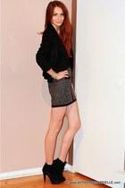 H&M skirt - Velvet Angels boots - Henry Duarte blazer
