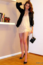 Alexander Wang dress - Mackage jacket - coach purse - BE&D heels