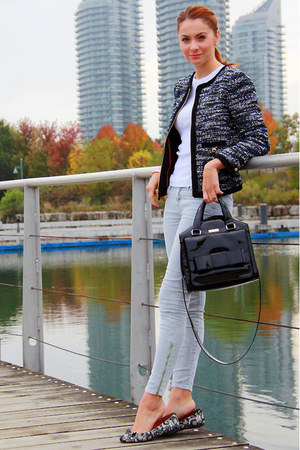 Juicy Couture jacket - three dots shirt - kate spade purse