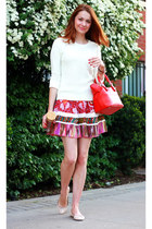 Dallin Chase skirt - Gap sweater - kate spade bag - J Crew flats