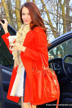 coach bag - See by Chloe boots - Zara coat - Club Monaco shirt - Sayami scarf