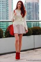 Aldo heels - Juicy Couture sweater - coach bag - Club Monaco skirt - YSL ring