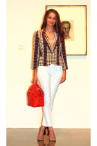 Marc by Marc Jacobs blazer - 7 for all mankind jeans - kate spade bag
