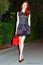 BCBG dress - kate spade bag - Yves Saint Laurent heels