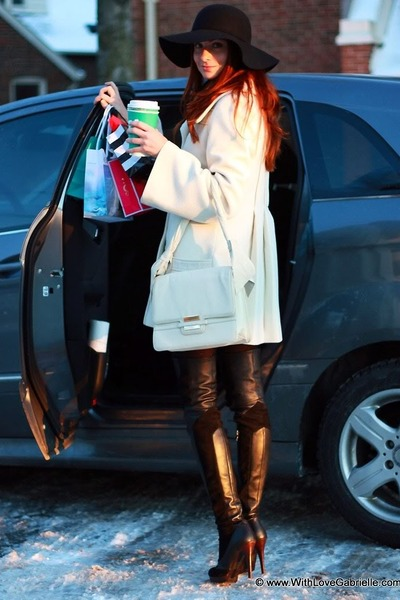La Baccarina boots - Mackage coat - BCBG hat - Zac Posen bag