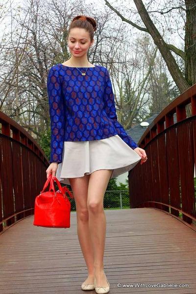 marlena tory burch shirt - kate spade bag - Club Monaco skirt
