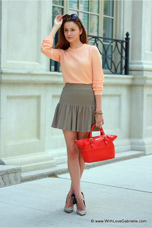 Club Monaco skirt - Alexander Wang shirt - kate spade bag