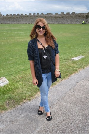Only cardigan - Miss Selfridge jeans - Prada sunglasses - Miss Selfridge top
