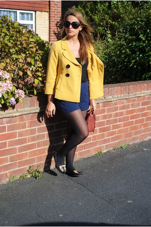 Orsay coat - River Island bag - dior sunglasses - River Island flats