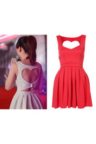 Heart Cut Out Back Dress